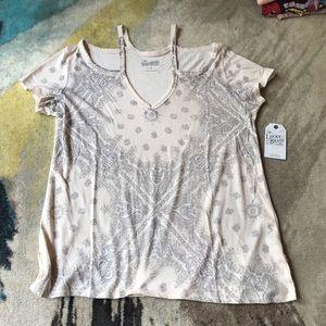 NWT Lucky Brand Boho T-Shirt